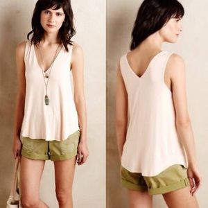 Anthropologie Soft Double Layered V-Neck Tank